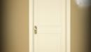 porta per hotel pantografata con cimasa colore panna