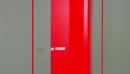 porta EI30, EI60 anta laccata lucida rosso con abbattimento acustico
