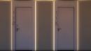 Porte a prova di fuoco per alberghi porta-modello-400-rei-30-o-rei-60-con-capitello-117-predisposto-strip led